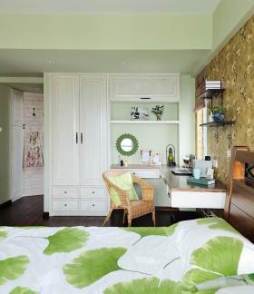 绿色美式清新浪漫卧室设计图片