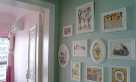 田园风格米色照片墙装修