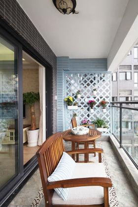 原木时尚美式大气阳台装潢设计