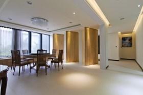 原木色中式风格餐厅隔断装修美图欣赏