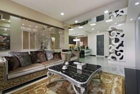 新古典风格灰色客厅装潢设计图