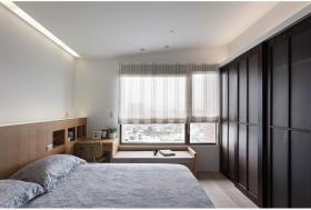 简约风格米色卧室飘窗装修设计