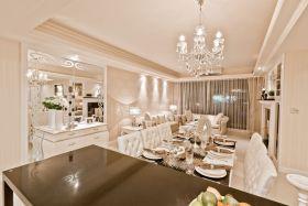精致轻盈新古典米色餐厅效果图设计