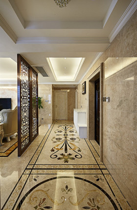 精致低奢清爽欧式风格过道装潢效果图设计
