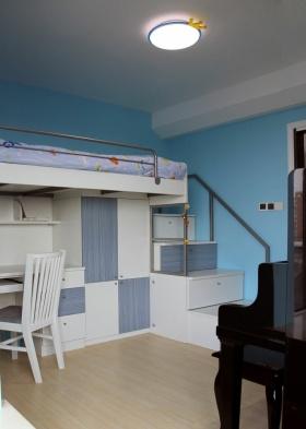 蓝色宜家风格可爱儿童房装修美图