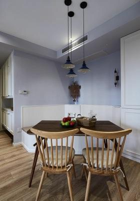 田园风格浪漫紫色餐厅装潢设计