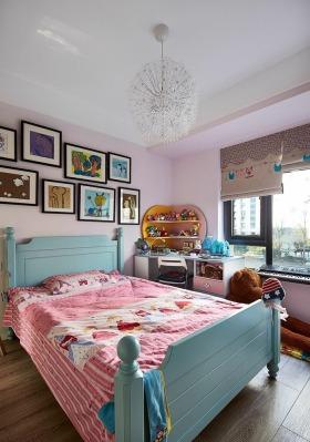 紫色温馨宜家风格儿童房装修设计