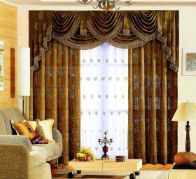 复古欧式经典风格客厅窗帘图片