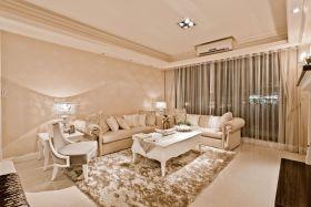 简欧风橙色客厅设计欣赏
