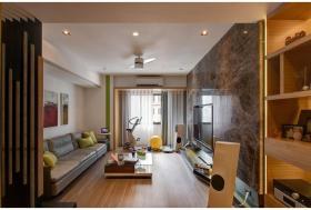 橙色现代客厅装修布置