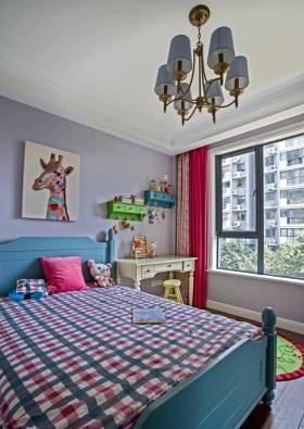 蓝色宜家风格儿童房设计