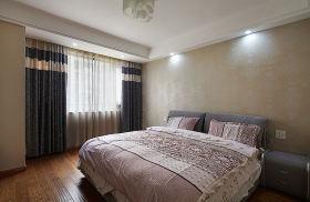 时尚雅致现代风格卧室窗帘装饰图