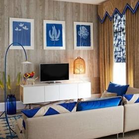 混搭风格创意个性客厅背景墙效果图欣赏