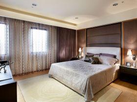 休闲美式灰色卧室窗帘图片赏析