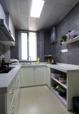 灰色简约风格厨房装修美图欣赏