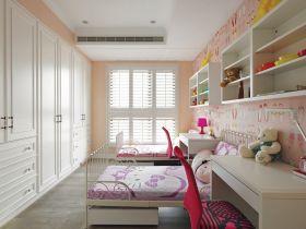 甜美可爱简约风格粉色儿童房装修图