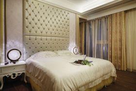 时尚简欧风格米色卧室窗帘装饰图