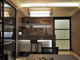 褐色中式风格吧台装潢