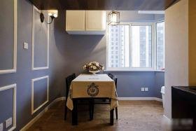 2016蓝色美式风格餐厅装修图
