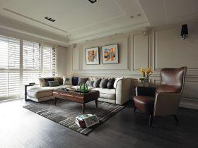 灰色时尚现代风格客厅装修效果图