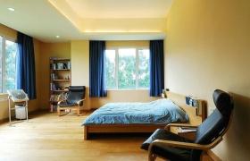 混搭风格卧室窗帘装饰案例