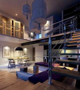现代风格楼梯设计图