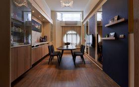 褐色时尚现代风格餐厅效果图设计