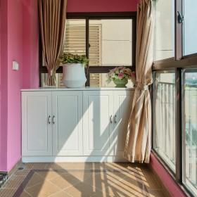 现代泛亚粉色阳台收纳设计案例