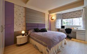 美式浪漫紫色卧室设计图