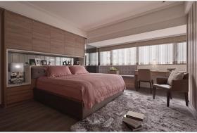 原木色简洁卧室装修布置