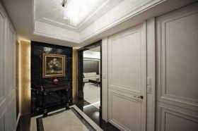 黑色雅致艺术风新古典过道装潢图片