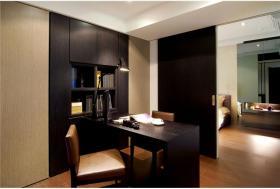 黑色简约风格书房装修设计案例