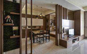 雅致大气时尚美式风格客厅隔断装潢美图