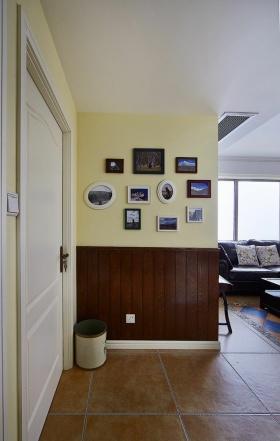 黄色现代风格照片墙装饰美图