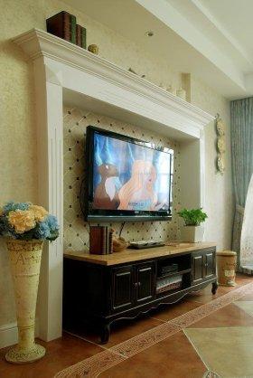 田园风格电视背景墙装修布置