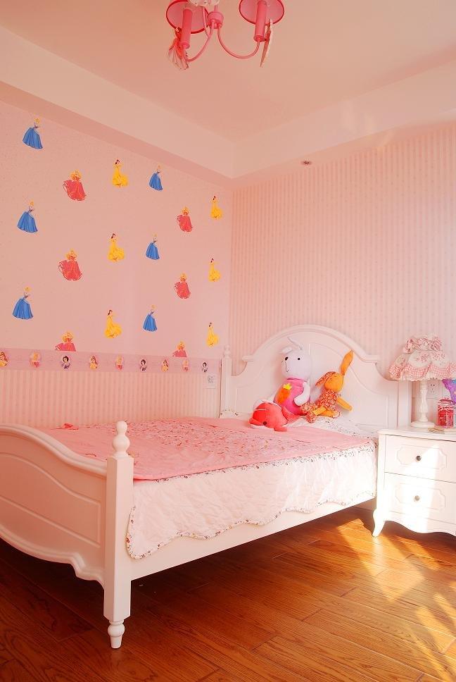 欧式风格浪漫粉色儿童房装修效果图