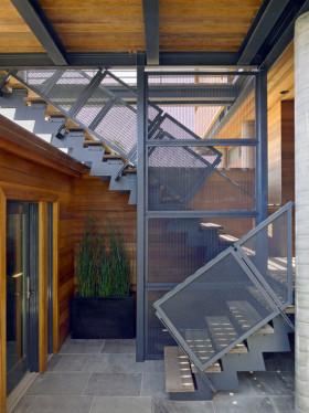 混搭风格楼梯过道设计图片