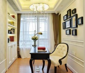 浪漫精致简欧风格书房设计图片