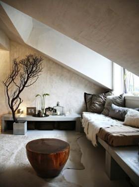 复古质朴混搭风格阁楼装潢设计