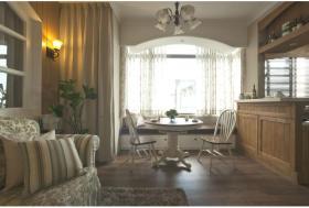 田园风格清新绿色客厅装潢
