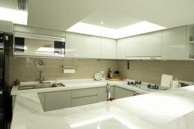 白色简约风格厨房橱柜台面设计赏析