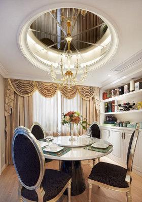 新古典精致低奢时尚餐厅装潢设计图片