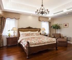 清新米色美式风格卧室装修