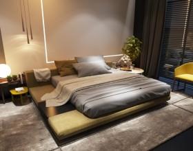 灰色休闲日式卧室榻榻米设计欣赏