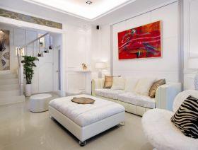 白色简欧客厅设计装潢