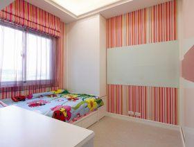 混搭风格红色条纹儿童房设计欣赏