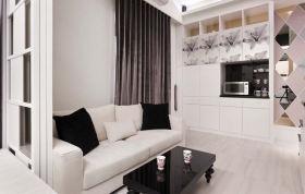 白色简约休闲客厅设计图片