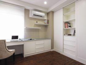 白色简约淡雅风格书房装潢案例