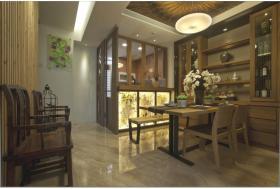 中式雅致简约风格餐厅装饰案例