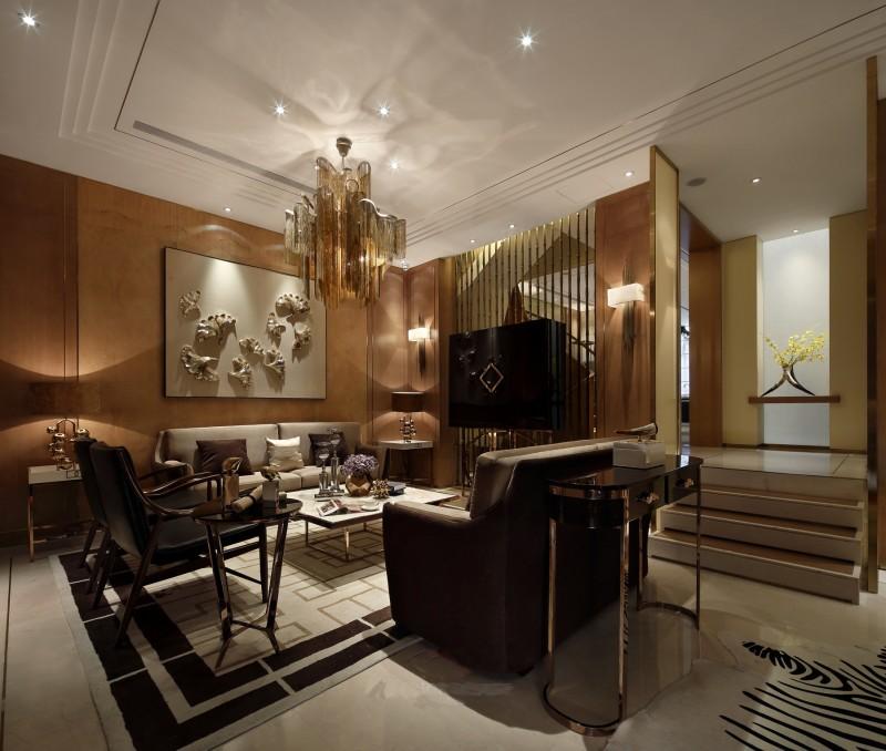精致低奢现代风格客厅装修案例